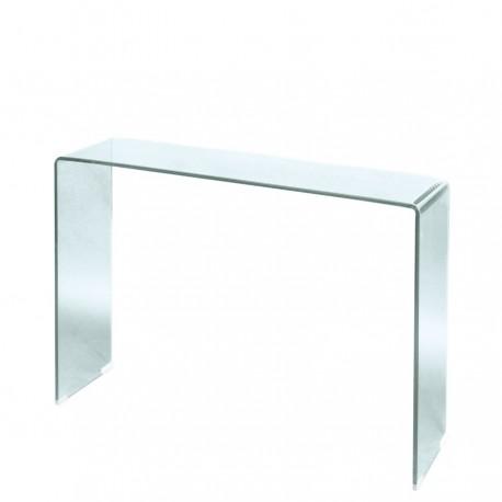 Consola de cristal para recibidor pequeño
