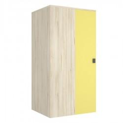 Armario Rincón cuadrado 1 puerta ixzda con estantería 1 estante